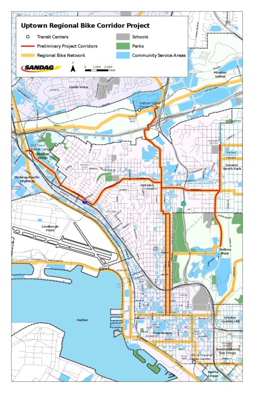 Uptown project map