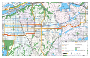 Map of Proposed North Park - Mid City Bike Corridor Project Routes