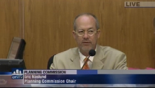 Eric Naslund, Planning Commission Chair. Image: screencapture from July 25th hearing