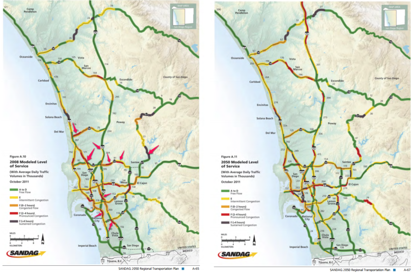 The difference between today and 2050 is that people will be sitting in traffic in different parts of our freeway system