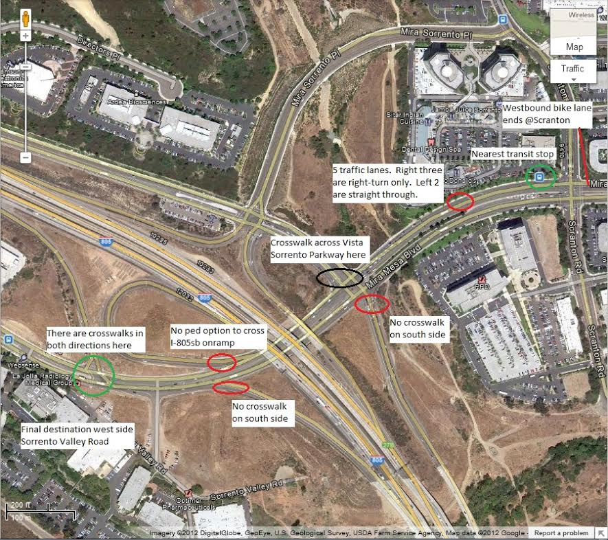 Mira Mesa Boulevard today with the I-805 North Project construction