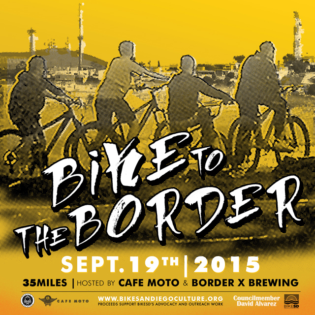 Bike to the Border! Artwork by Art Meier at A7D.