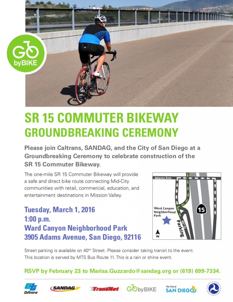 SR15 Commuter Bikeway Groundbreaking Invitation