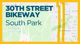 30th Street Bikeway map graphic