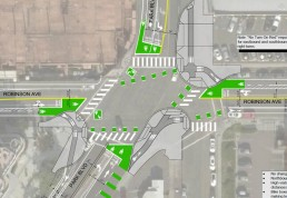Park Boulevard and Robinson Av intersection design 2018