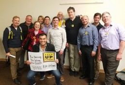 Rise Up Town members after victory at Uptown Planners, March 5, 2019