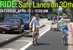 RIDE: Safe Lanes on 30th Street