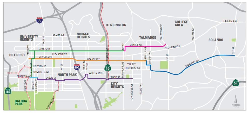 sandag bike plan MidCity