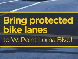 Protected lanes image for West Point Loma Blvd