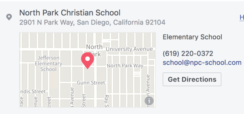 map of North Park Christian School