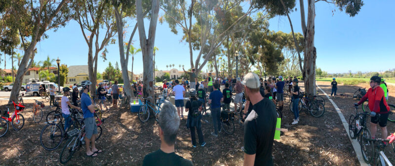 Bird Park gathering for the 30th St bikeway ride