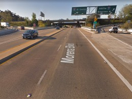 Streetview image of Morena crossing under I-8