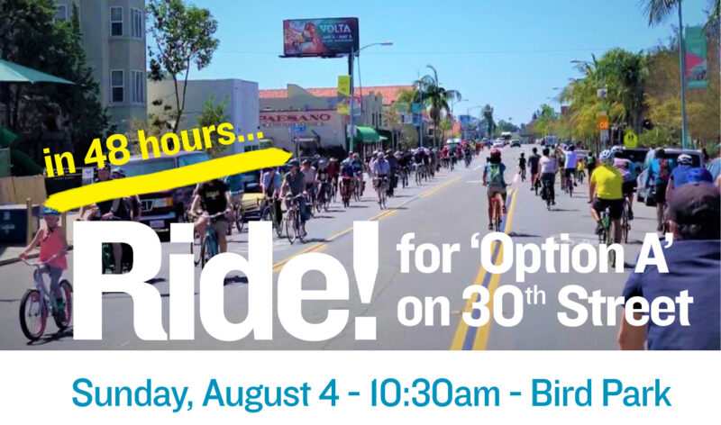 Ride for Option A on 30th Street