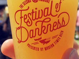 Modern Times Festival of Dankness pint of beer