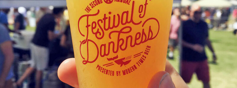 Modern Times Festival of Dankness photo showing a beer glass with logo on it