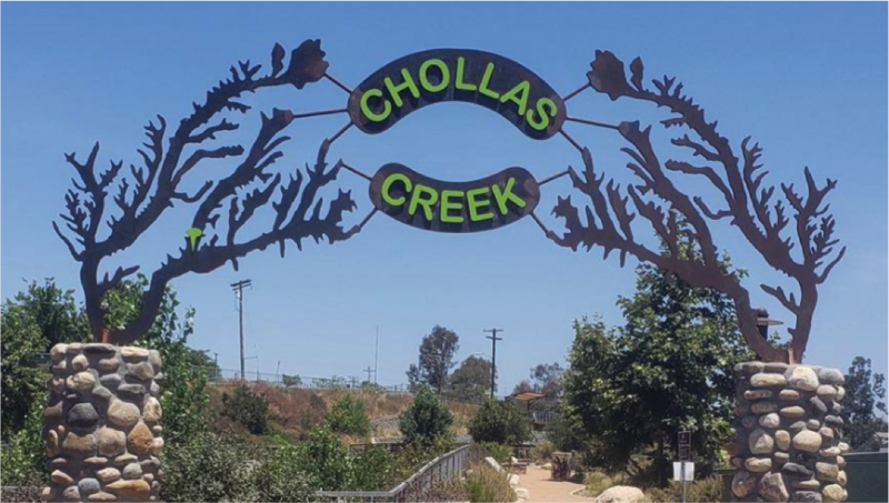 This photo represents the latest success story for a recent trail connection within Chollas Creek Regional Park.