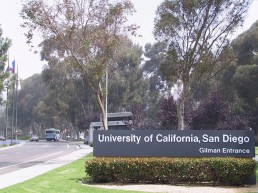 Gilman entrance of UCSD